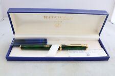 More details for vintage waterman preface green escapist medium fountain pen, cased