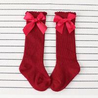 Children Kids Fashion Socks Baby Cute Bow Stripe Toddler Keep Warm Boys Girls