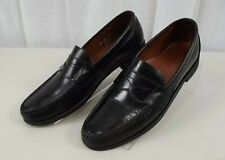 Allen Edmonds Mens Black Leather Loafer Shoes 9.5 2 A Loafers Penny Narrow