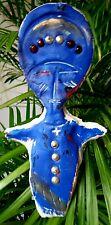 TRES BELLE Statuette Bleue genre poupée de fertilité