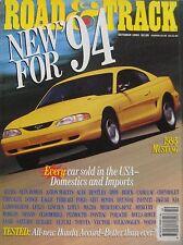 Road & Track magazine 10/1993 featuring Honda Accord road test