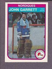 1982-83 O-Pee-Chee OPC Hockey John Garrett #283 Quebec Nordiques NM/MT