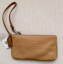 Coach Tan Leather Zip Wristlet New