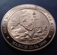 """+1888 Great Blizzard """"THE SNOW STORM Of '88""""  Franklin SOLID BRONZE Uncirculated"""