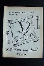 Saints Peter and Paul Church Dedication Program Cary Illinois 1971