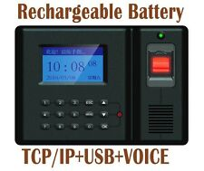 TCPIP+USB download Fingerprint employee clock in time attendance+backup battery