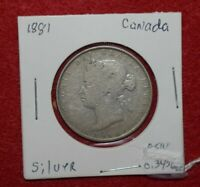1881 Newfoundland  CANADA 50 Cents. Fifty Cents . Half Dollar.  Silver Coin