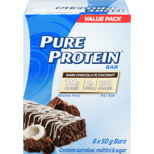 Pure Protein Dark Chocolate Coconut Value Pack (6 x 50 g) - FROM CANADA