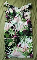 JD Williams Women's White Floral Bodycon Bardot Dress Size 24 New With Defects