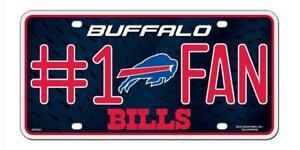 Buffalo Bills #1 Fan License Plate [NEW] NFL Tag Auto Truck Frame Metal