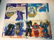 Vintage G1 1984 Bandai transformer Gobot lot 5 cards Dive flip top Turbo twin