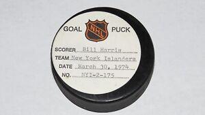 1973-74 Billy Harris New York Islanders Game Used Goal Scored Puck -20th Goal