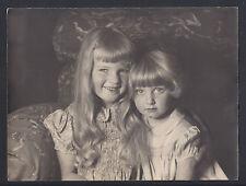 Archduchess Maria & Archduchess Alexandra Habsburg of Austria Antique Photo 1938
