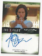 Annabeth Gish The X Files Ufos & Aliens Paranormal Script Autograph Card Auto