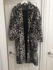 Maje Faux Fur Leopard Print Coat 36
