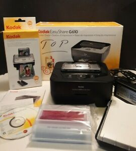 Kodak Easy Share G610 Docking Station Photo Printer W/Extra Ink & Paper Complete