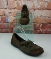 Clarks Privo Mary Jane Loafers Size 8 Green Brown Leather