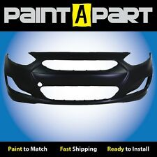 Fits: 2012 2013 Hyundai Accent Sedan Front Bumper Cover (HY1000188) Painted