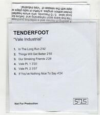 (FV64) Tenderfoot, Vale Industrial (debut) - 2005 DJ CD