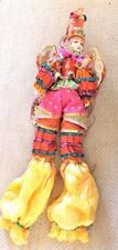 "VINTAGE KATHERINE'S COLLECTION MARDI GRAS JESTER FAIRY WINGS SEQUINS 40"" TALL"