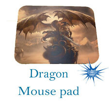 Dragon with hunter on mountain Anti Slip PC Gamer Picture Mouse Pad