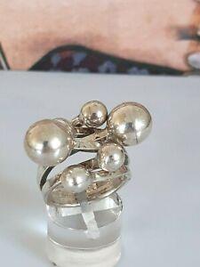 Phantastischer älterer Ring Silber 925, ausgefallenes  Design, massiv, 17,2mm