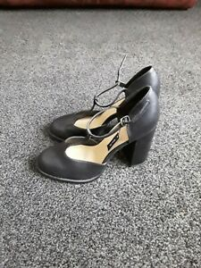 Size 7 New look Black t bar shoes. Wide fit