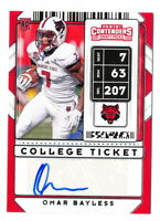 OMAR BAYLESS RC 2020 PANINI CONTENDERS DRAFT COLLEGE TICKET AUTO