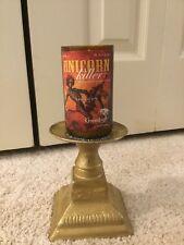 Green Bush Unicorn Killer Candle BEER Bottle Candle Holder Brass Man Beer Sign