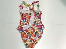 NEW Selini Action Girls Kids POPSICKLE SWIMSUIT w/ BOWS BOD13-14 Sz 8 RTL $120