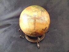 Bug ball metal stand decoupage craft dragonflies beetles vintage nature art vtg