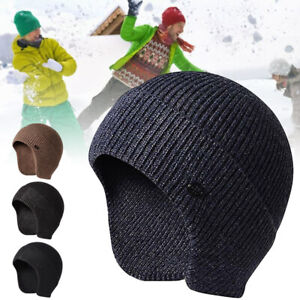 Unisex Scruffs Winter Peaked Beanie Cap Work Hat With Ear Flaps Warmer Knit Hat
