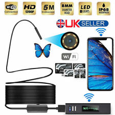 8 LED WIFI Endoscope Wireless Borescope HD Inspection Camera For Android iPhone