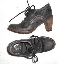 FEUD chaussures derbys à lacets cuir brun foncé P 38 TBE