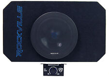 """Rockville RMW8A 8"""" 800w Tunnel Slot Ported Powered Subwoofer Enclosure Class D"""