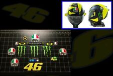 Valentino Rossi NEW 2018 helmet vinyl decal sticker kit set MotoGP Yamaha AGV 46