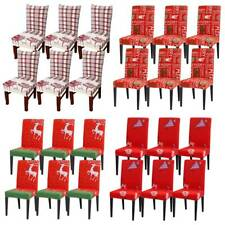 Xmas Elk Dining Chair Cover Stretch Seat Slipcover Christmas Party Home Decor