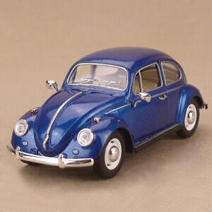 1967 Volkswagen Classical Beetle Blue Model Car 1:24 17cm Die-Cast Metal Lrg OLP