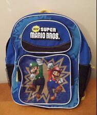 SUPER MARIO BROS. Back Pack  2011 Nintendo  Lugio and Mario Backpack