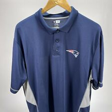 New England Patriots Men's Golf Polo Blue Gray NFL Team Apparel TX3 XL Cool