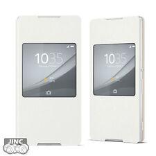 Genuine Sony SCR30 Flip Style Window Smart Case Cover for Sony Xperia Z3 Plus