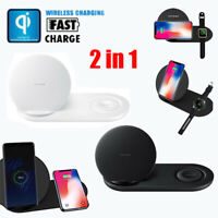 Wireless Fast Charging Charger Dock Station Stand For Samsung Galaxy Watch iPhon