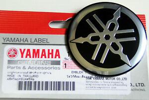 ORIGINAL Yamaha-5,5cm-3D-ALUMINIUM EMBLEM-Aufkleber-Decal-55mm-LOGO-SCHWARZ