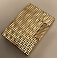 St Dupont Gold Plated 'Hobnail' Ligne 1 (SMALL) Lighter-Fully Overhauled