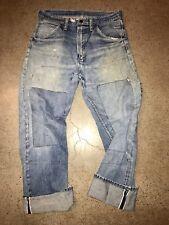 Vintage 50's Wrangler SELVEDGE Denim Jeans Size 33 X 31 Blue Bell 34 X 32 USA