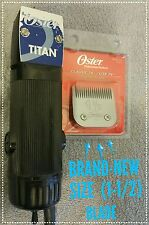 PROFESSIONAL OSTER TITAN 2 SPEED CLIPPER (((NEW SIZE 1-1/2 BLADE  )))#D-16