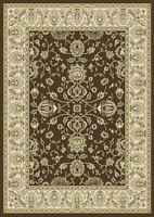 "Brown Oriental Floral Area Rug 8x11 Persien Border Carpet -Actual 7' 8"" x 10' 4"""