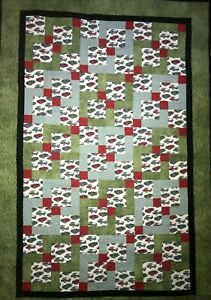 """NEW Handmade Cars Quilt Classic Cars from the 50s Quilt 74"""" x 50"""" Pure Cotton"""