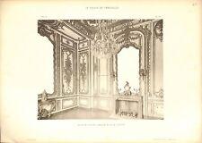 Salon de Madame Adélaïde Fille Louis XV Château de Versailles GRAVURE PRINT 1899