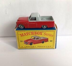 MATCHBOX 50 PICKUP COMMER MKVIII GPW & RARE D BOX